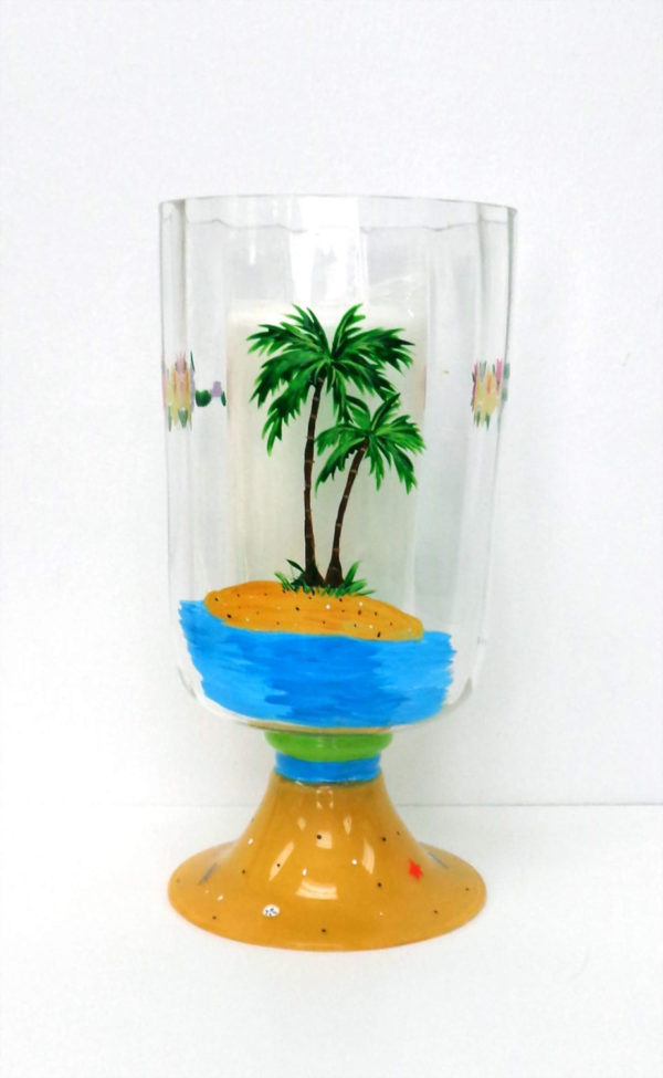 Beach Hurricane Candle Holder