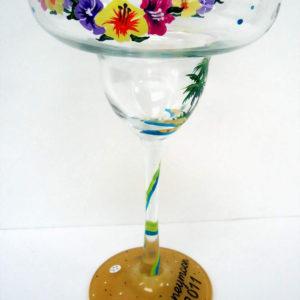 Beach Margarita Glass