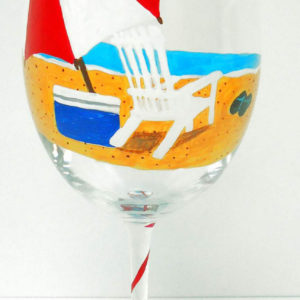 Beach Wine Glass