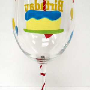 Birthday Wine Glass