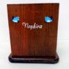 Blue Bird Napkin Holder with shakers