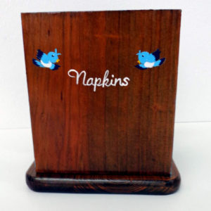 Blue Bird Napkin Holder with shakers
