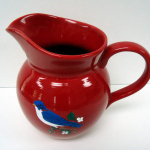 Blue bird Pitcher