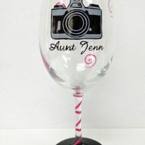 Camera Wine Glass