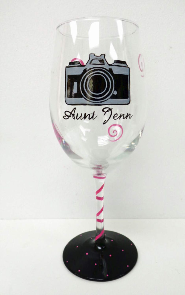 Camera Wine Glass
