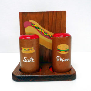 Cheeseburger Hotdog Napkin Holder with shakers