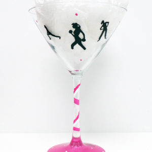 Running Martini Glass