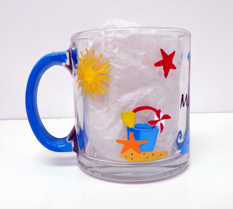 Beach Coffee Mug Glass
