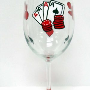 Poker Wine Glass