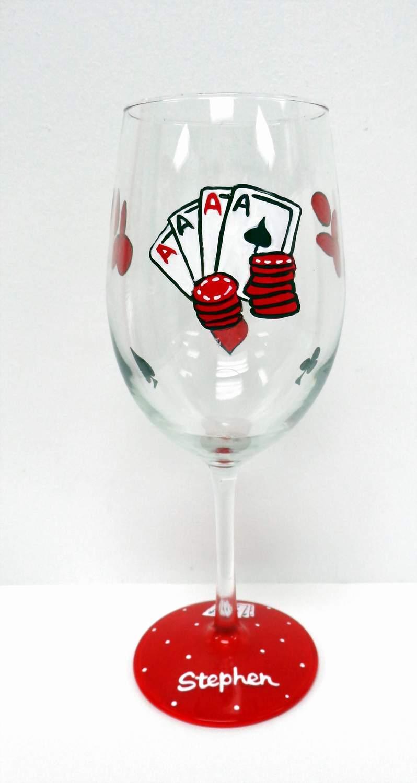 Poker Wine Glass
