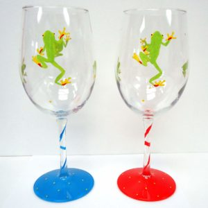Frog Wine Glass -