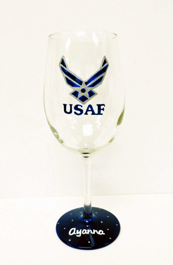 Air Force Wine Glass