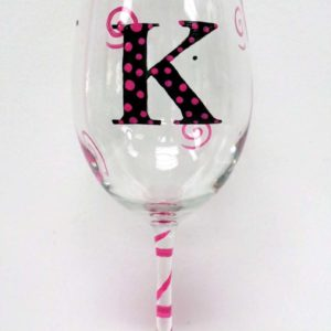 Personalized Wine Glass - Monogram