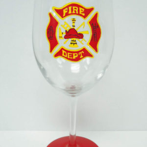 Fireman Wine Glass