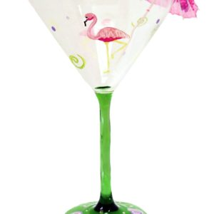 Flamingo Martini Glass