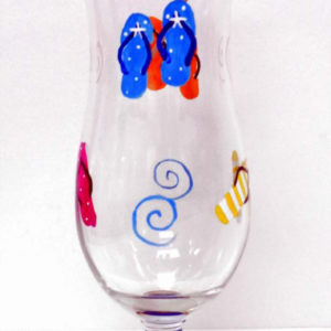 Flip Flop Hurricane Glass