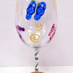 Flip Flop wine glass