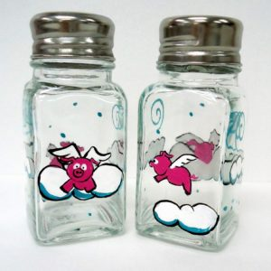 Flying Pig Salt and Pepper Shakers