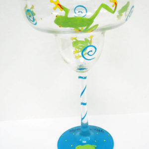 Frog Margarita Glass