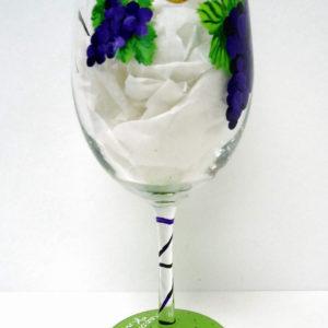 Grapes Monogram Wine Glass