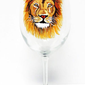 LION WINE GLASS