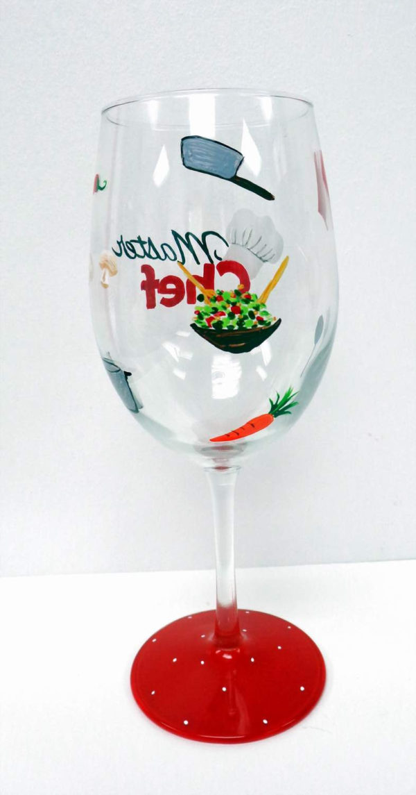 Master Chef Wine Glass