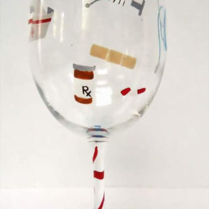 Nurse Wine Glass