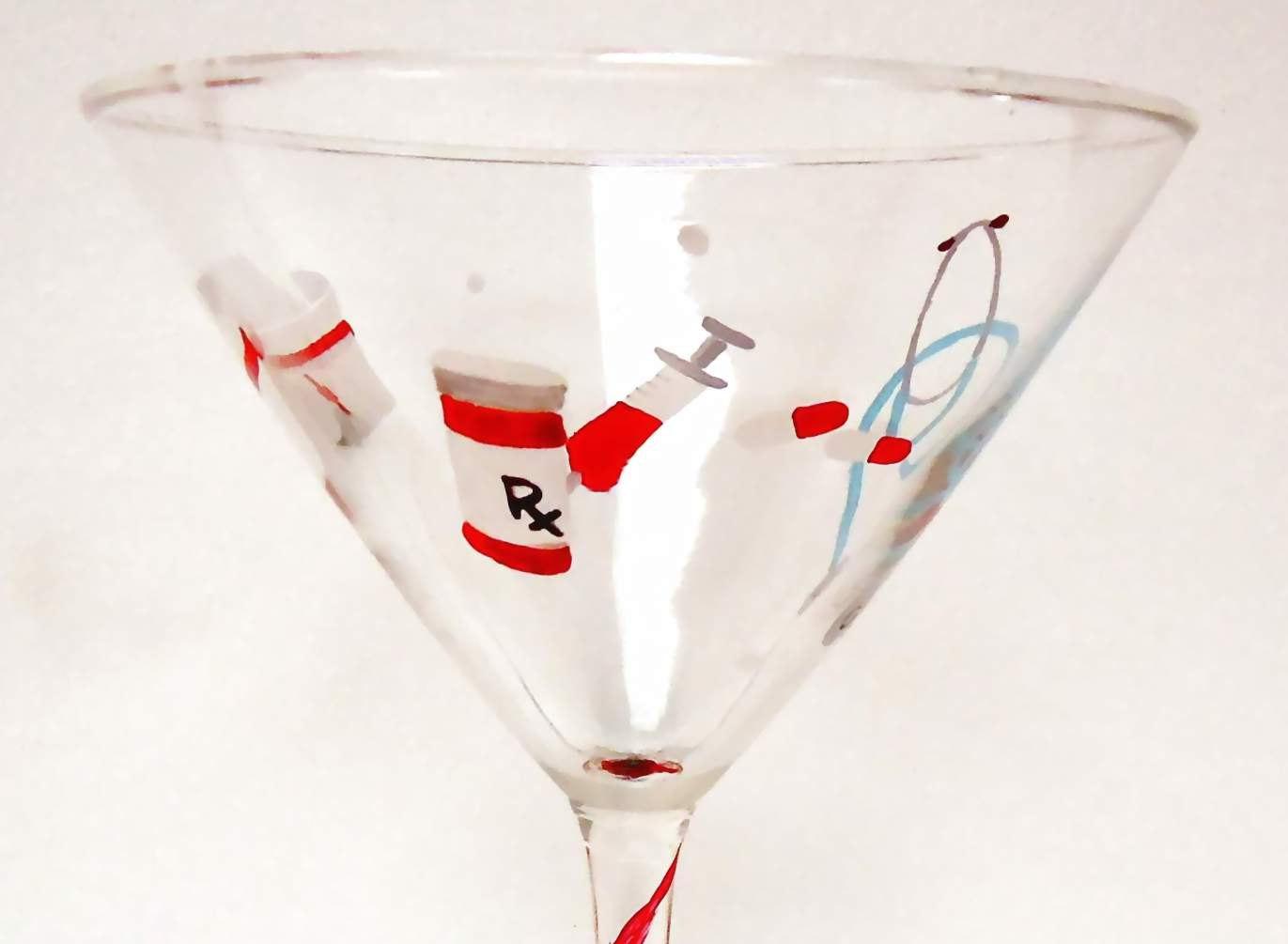 Nurse Martini Glass
