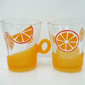 Orange juice glass - set of two