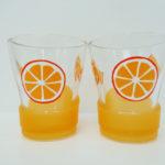 Orange juice glass - set of two