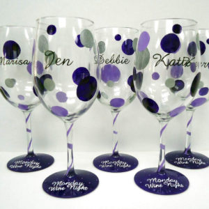 Polka Dot Wine Glass