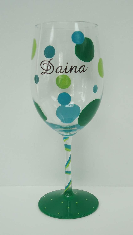 Polka Dot Wine Glass