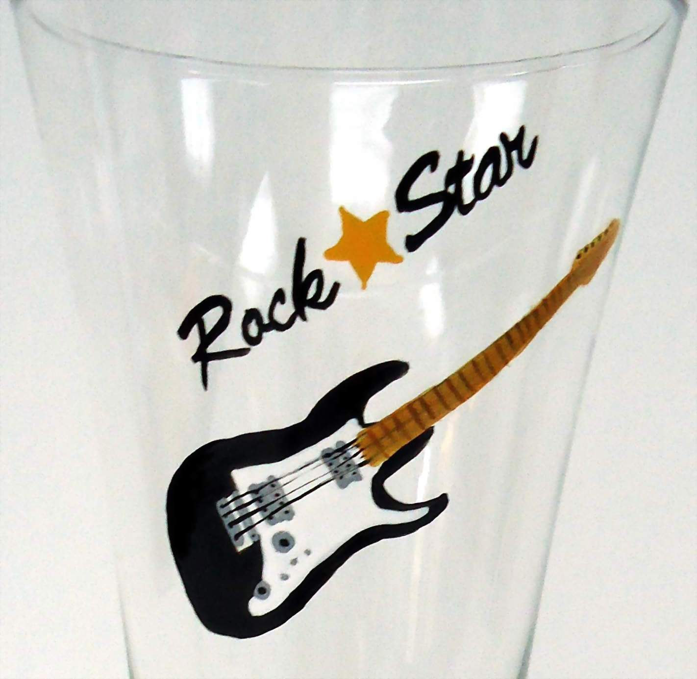 Rock Star Guitar Glass