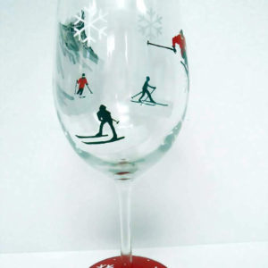 Skiing - Wine Glass