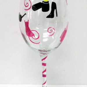Shopping Wine Glass