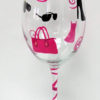 Shopping Wine Glass