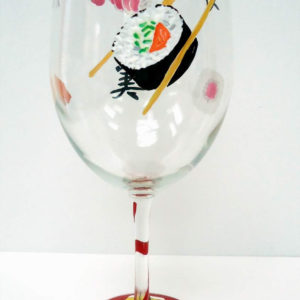 Sushi Wine Glass
