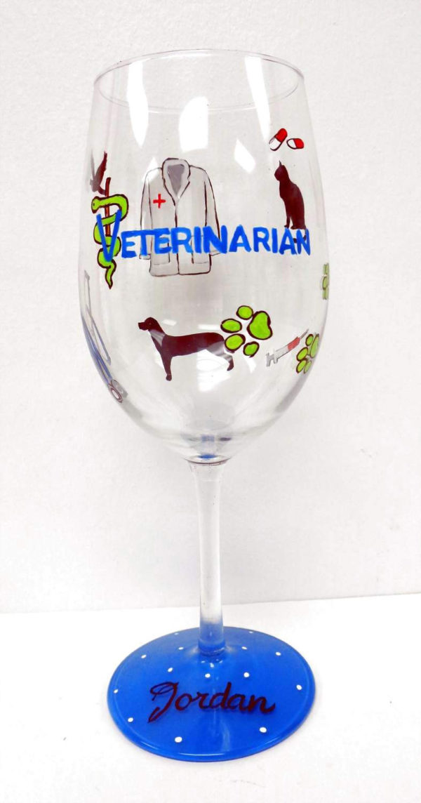 Veterinarian Wine Glass