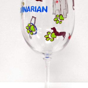 Veterinarian Wine Glass