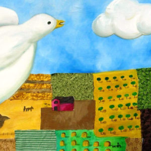 Landscape dove painting art
