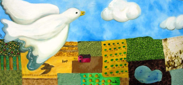 Landscape dove painting art